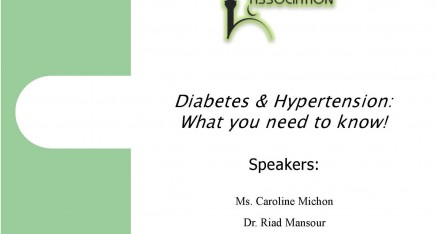 Diabetes & Hypertension – What you need to know!