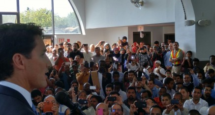 Hon. Prime Minister Visit to Ottawa Mosque on Eid Day