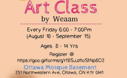 Art Class at Ottawa Mosque