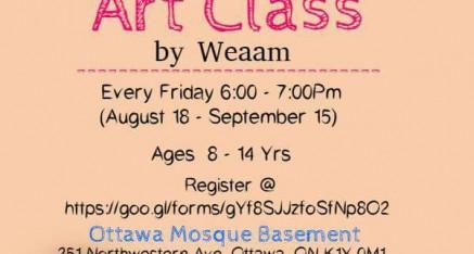 Art Class at Ottawa Mosque