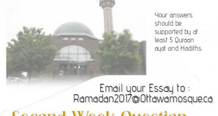 Ramadan Program Competition – week 2