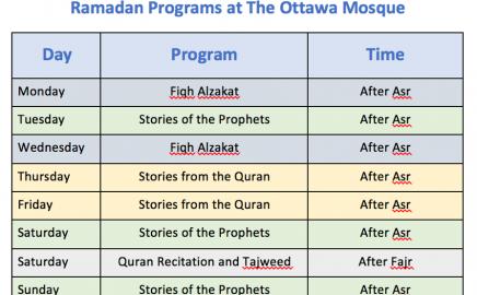 Ramadan Program 1438 Hijri