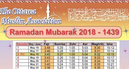 Ramadan Calendar (1st day is May 17th)